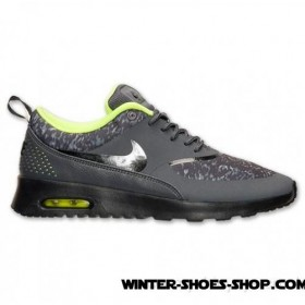Competitive Price US Women's Nike Air Max Thea Print Running Shoes Dark Grey/Black/Volt Outlet Online