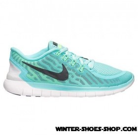 Discount US Women's Nike Free 5.0 Running Shoes Light Aqua/Light Retro/Black/Green Glow Outlet York