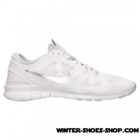 Unique Design US Women's Nike Free 5.0 Tr Fit 5 Training Shoes White/Metallic Silver/Pure Platinum Factory Price