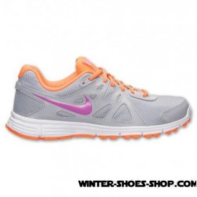 Best-Selling US Women's Nike Revolution 2 Running Shoes Wolf Grey/Red Violet/Atomic Orange Store Online