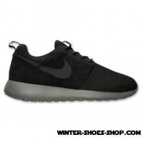 Latest And Hottest US Women's Nike Roshe Run Winter Casual Shoes Black/Anthracite/Cool Grey/Volt Store Online