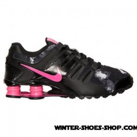 Summer Sale US Women's Nike Shox Current Running Shoes Black/Pink Pow/Fireberry For Sale Online