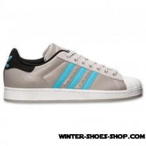 Typical Style US Men's Adidas Superstar 2 Casual Shoes Grey/Powder Blue Outlet Sale-20