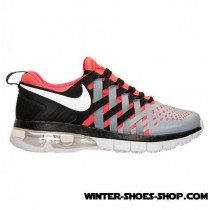 Top-Selling US Men's Nike Fingertrap Air Max Training Shoes Bright Crimson/White/Grey Sale Outlet Store-20