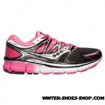 Online Store US Women's Saucony Triumph Iso Running Shoes Black/Pink For Sale-20