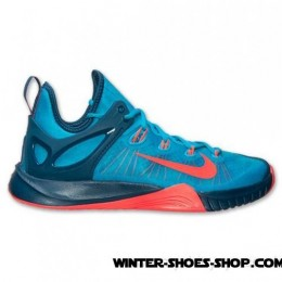 Outlet Sale US Men's Nike Zoom Hyperrev 2017 Basketball Shoes Blue Lagoon/Bright Crimson Outlet Shop-20
