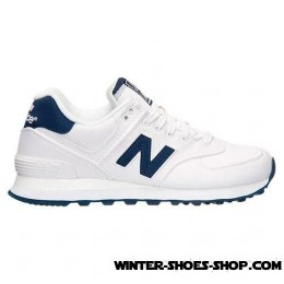 Fascinating Model US Women's New Balance 574 Casual Shoes White/Navy Factory Price-20