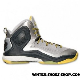 Special Design US Men's Adidas D Rose 5 Boost Basketball Shoes Silver Metallic/Core Black/Light Yellow Sale Online 2017
