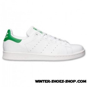2017 New Arrivals US Men's Adidas Originals Stan Smith Casual Shoes White/Fairway Clearance