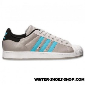 Typical Style US Men's Adidas Superstar 2 Casual Shoes Grey/Powder Blue Outlet Sale