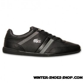 Less Expensive US Men's Lacoste Giron Scy Casual Shoes Black/Dark Grey Hot Sale Online
