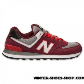 Reasonable Price US Men's New Balance 574 Casual Shoes Burgundy Outlet Sale