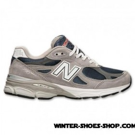 2017 Top-Selling US Men's New Balance 990 Running Shoes Navy/Grey No Taxes