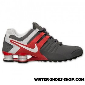2017 Hot Sell US Men's Nike Shox Current Running Shoes Dark Grey/Red Clay/Pure Platinum US Sale