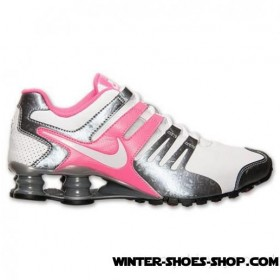 Best Price US Women's Nike Shox Current Running Shoes White/Metallic Cool Grey/Pink Pow Hot Sale